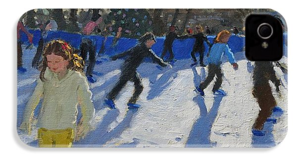 Ice Skaters At Christmas Fayre In Hyde Park  London IPhone 4 Case