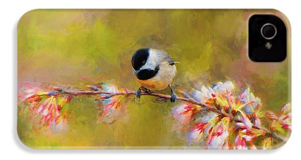 Impressionist Chickadee IPhone 4 Case
