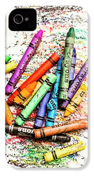 In Colours Of Broken Crayons IPhone 4 Case