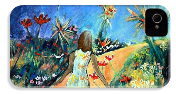 In The Garden Of Joy IPhone 4 Case by Winsome Gunning