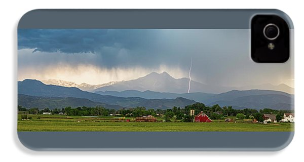 IPhone 4 Case featuring the photograph Incoming Storm Panorama View by James BO Insogna