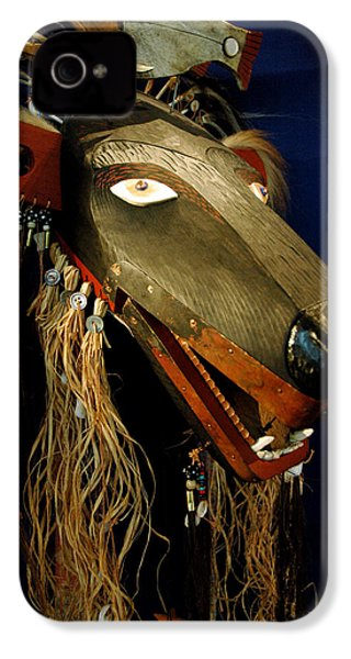 Indian Animal Mask IPhone 4 / 4s Case by LeeAnn McLaneGoetz McLaneGoetzStudioLLCcom