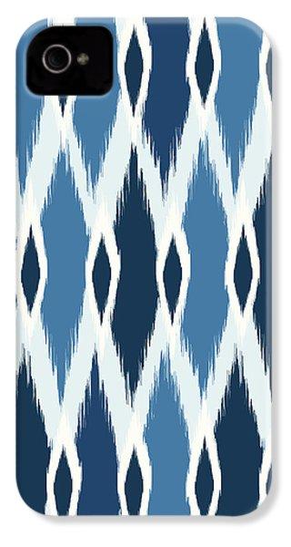 Indigo Ikat IPhone 4 / 4s Case by Arte Flora Design Studio