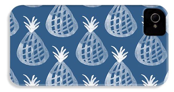 Indigo Pineapple Party IPhone 4 Case