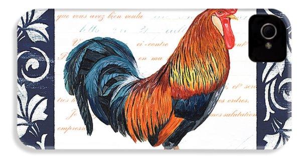 Indigo Rooster 1 IPhone 4 Case by Debbie DeWitt