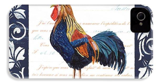 Indigo Rooster 2 IPhone 4 Case by Debbie DeWitt