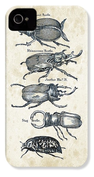 Insects - 1792 - 01 IPhone 4 Case by Aged Pixel