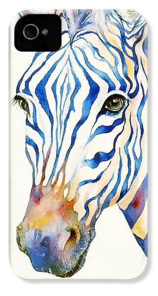 Intense Blue Zebra IPhone 4 / 4s Case by Arti Chauhan