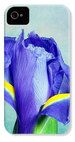 Iris Flower Of Faith And Hope IPhone 4 Case by Tom Mc Nemar
