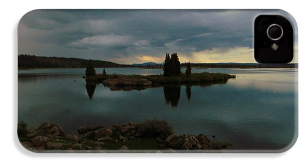 IPhone 4 Case featuring the photograph Island In The Storm by Karen Shackles