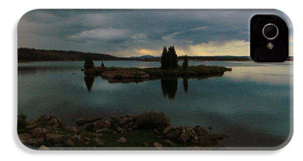 Island In The Storm IPhone 4 Case by Karen Shackles