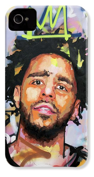 J Cole IPhone 4 Case by Richard Day