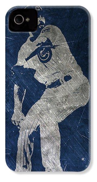 Jake Arrieta Chicago Cubs Art IPhone 4 Case by Joe Hamilton