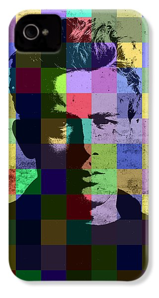 James Dean Actor Hollywood Pop Art Patchwork Portrait Pop Of Color IPhone 4 Case by Design Turnpike