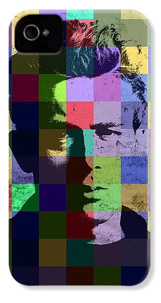 James Dean Actor Hollywood Pop Art Patchwork Portrait Pop Of Color IPhone 4 Case