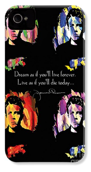 James Dean IPhone 4 Case by Mo T