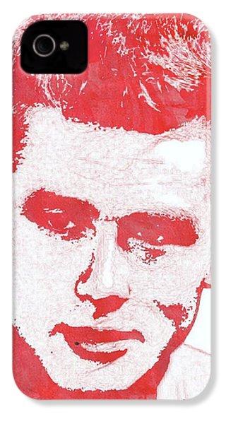 James Dean Pop Art IPhone 4 Case by Mary Bassett