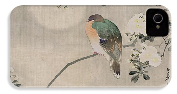 Japanese Silk Painting Of A Wood Pigeon IPhone 4 / 4s Case by Japanese School