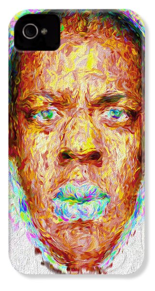 Jay Z Painted Digitally 2 IPhone 4 Case by David Haskett