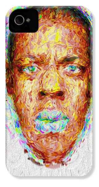 Jay Z Painted Digitally 2 IPhone 4 / 4s Case by David Haskett