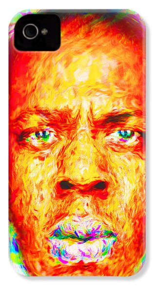 Jay-z Shawn Carter Digitally Painted IPhone 4 Case by David Haskett