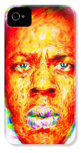 Jay-z Shawn Carter Digitally Painted IPhone 4 / 4s Case by David Haskett