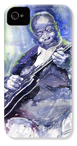 Jazz B B King 02 IPhone 4 Case by Yuriy  Shevchuk