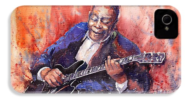 Jazz B B King 06 A IPhone 4 Case by Yuriy  Shevchuk