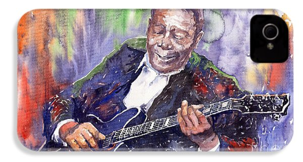 Jazz B B King 06 IPhone 4 Case by Yuriy  Shevchuk