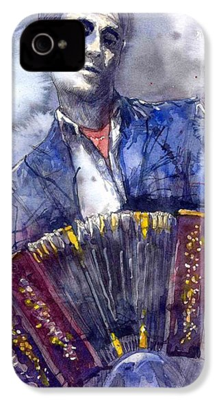Jazz Concertina Player IPhone 4 / 4s Case by Yuriy  Shevchuk