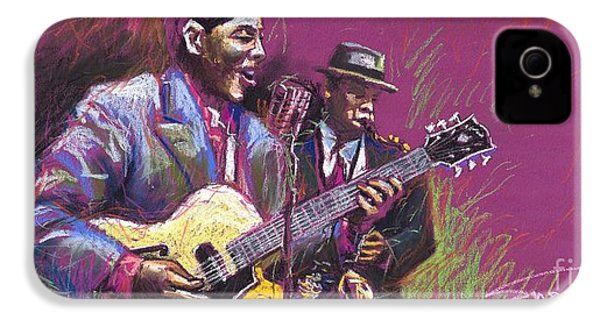Jazz Guitarist Duet IPhone 4 / 4s Case by Yuriy  Shevchuk