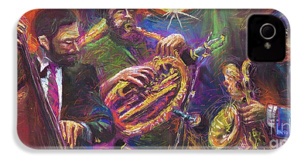 Jazz Jazzband Trio IPhone 4 Case by Yuriy  Shevchuk