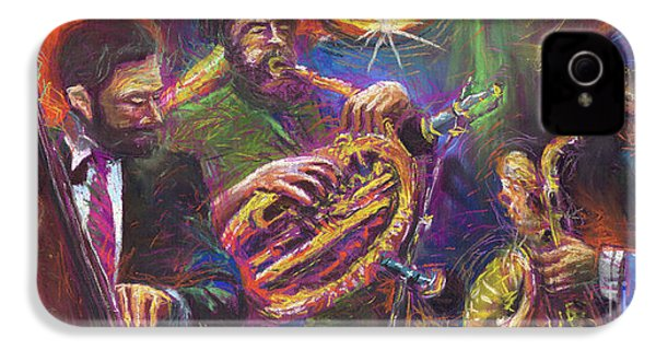 Jazz Jazzband Trio IPhone 4 / 4s Case by Yuriy  Shevchuk