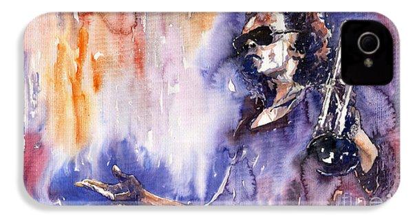 Jazz Miles Davis 14 IPhone 4 Case by Yuriy  Shevchuk