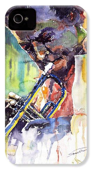 Jazz Miles Davis 9 Blue IPhone 4 / 4s Case by Yuriy  Shevchuk