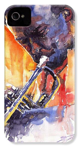 Jazz Miles Davis 9 Red IPhone 4 / 4s Case by Yuriy  Shevchuk