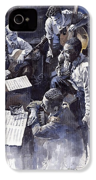 Jazz Parker Tristano Bauer Safransky Rca Studio Ny 1949 IPhone 4 Case by Yuriy  Shevchuk