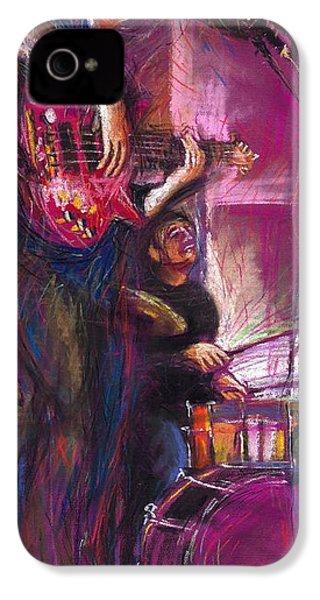 Jazz Purple Duet IPhone 4 / 4s Case by Yuriy  Shevchuk