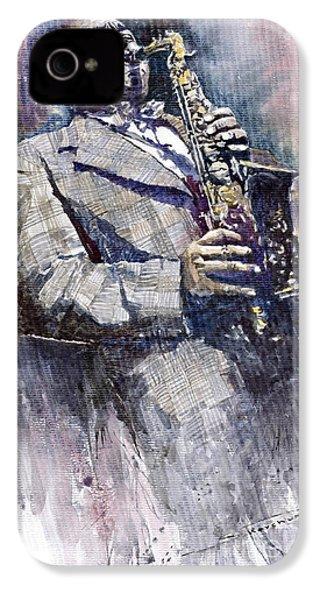 Jazz Saxophonist Charlie Parker IPhone 4 Case by Yuriy  Shevchuk