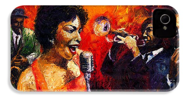 Jazz Song IPhone 4 / 4s Case by Yuriy  Shevchuk