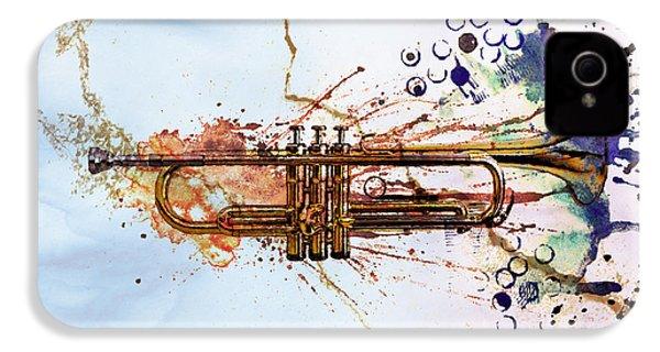 Jazz Trumpet IPhone 4 Case by David Ridley