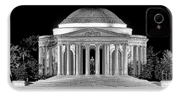 Jefferson Memorial Lonely Night IPhone 4 Case by Olivier Le Queinec