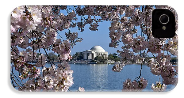Jefferson Memorial On The Tidal Basin Ds051 IPhone 4 Case by Gerry Gantt