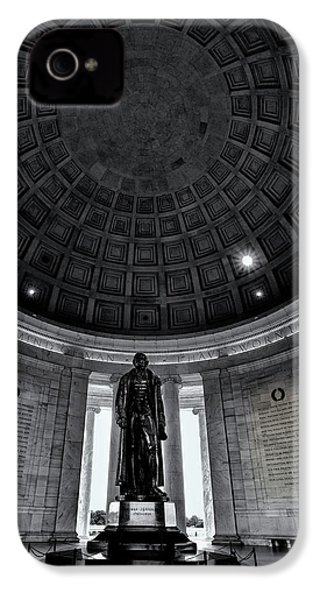 Jefferson Statue In The Memorial IPhone 4 Case by Andrew Soundarajan