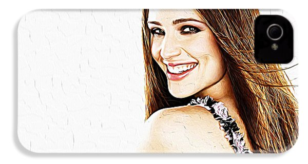 Jennifer Garner IPhone 4 / 4s Case by Iguanna Espinosa