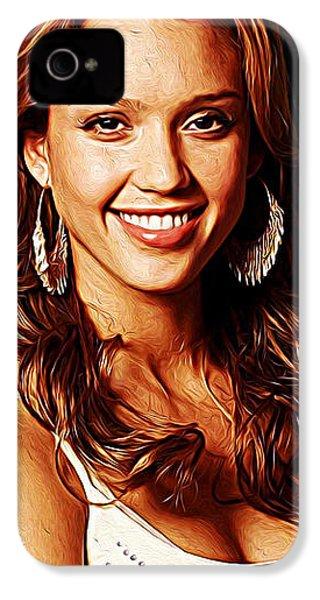 Jessica Alba IPhone 4 Case by Iguanna Espinosa
