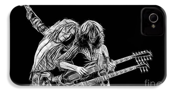 Jimmy Page And Robert Plant Collection IPhone 4 Case by Marvin Blaine