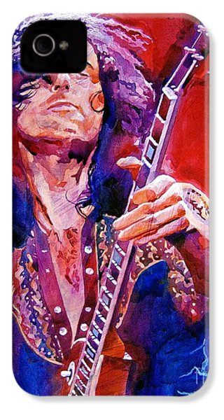 Jimmy Page IPhone 4 Case by David Lloyd Glover
