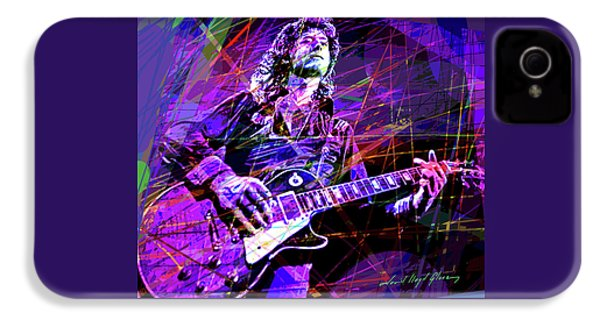 Jimmy Page Solos IPhone 4 Case by David Lloyd Glover