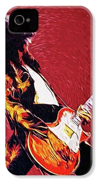 Jimmy Page  IPhone 4 Case by Taylan Apukovska